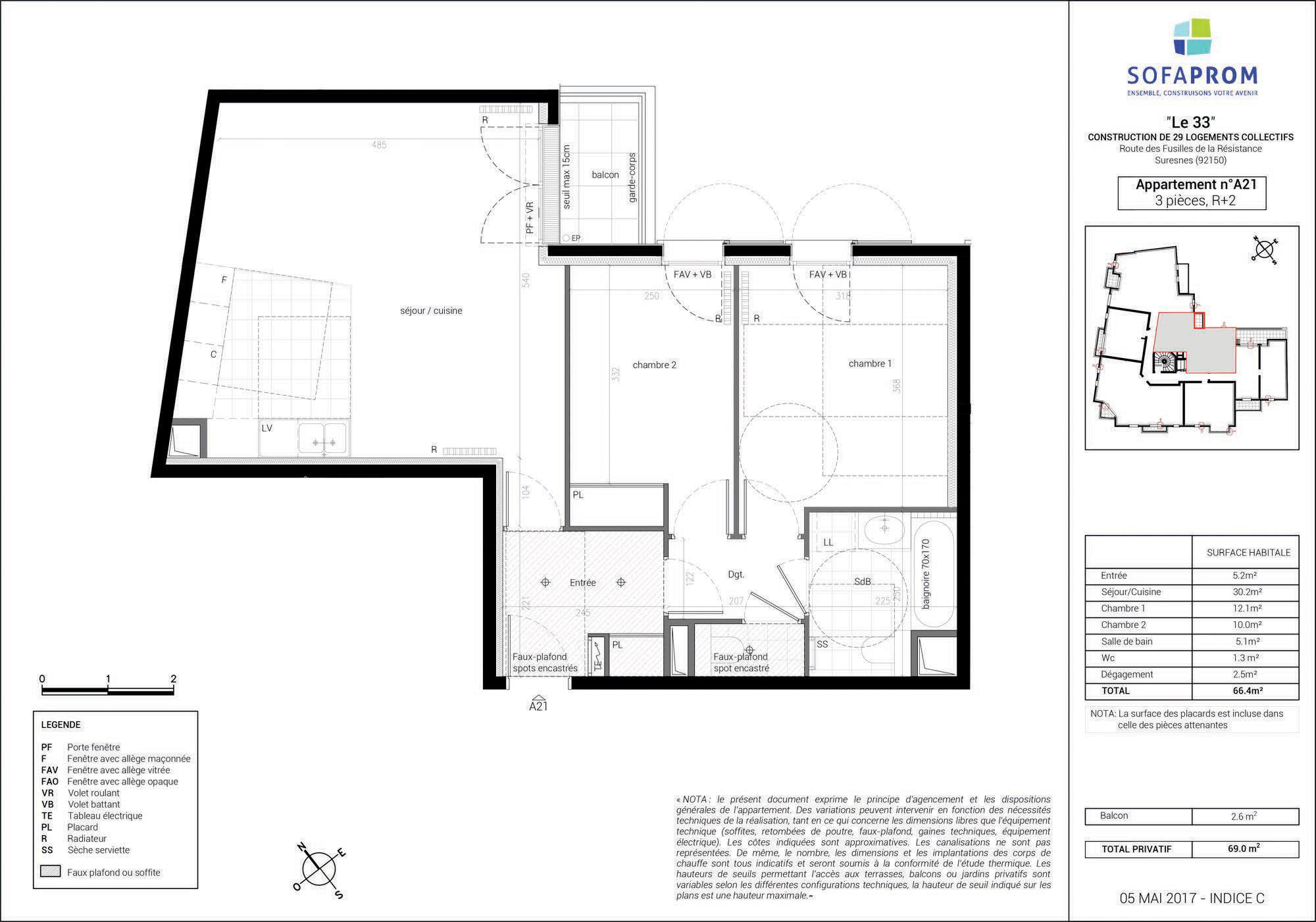 Visite 3d de l 39 appartement neuf a21 en vente suresnes for Projet appartement neuf