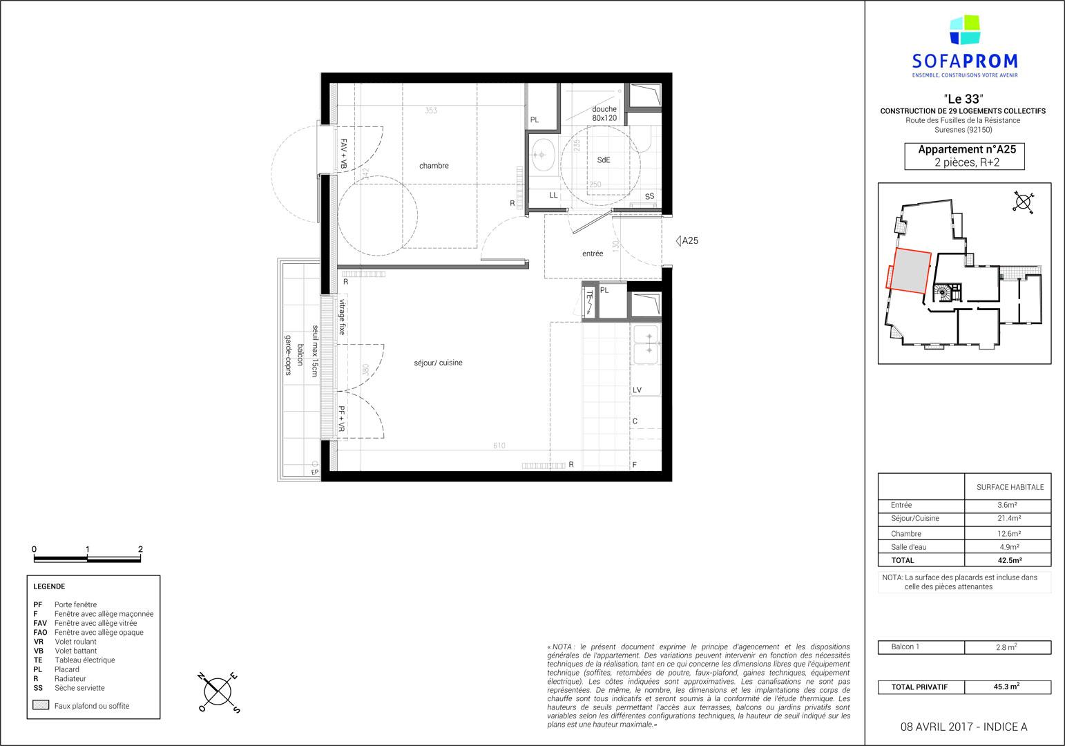 Visite 3d de l 39 appartement neuf a25 en vente suresnes for Projet appartement neuf